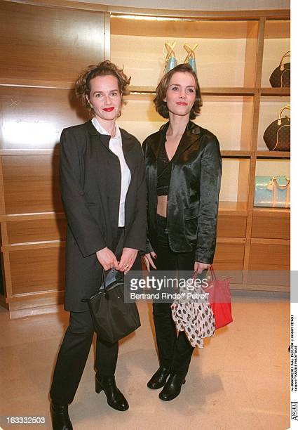Isabelle Pasco and friend at theOpening Of The Louis Vuitton Boutique At The ChampsElysees In Paris
