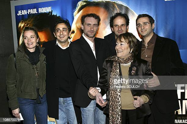 Isabelle Renaud Eric Toledano Jean Paul Rouve Lionel Abelanski Olivier Nakache and Annie Girardot in Paris France on February 21th 2005