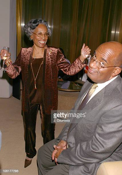 Isabelle Roker dances for her son Al Roker during Book Release Party for Al Roker's HassleFree Holiday Cookbook at The World Bar at Trump World Tower...
