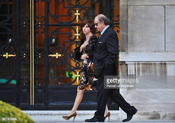 Isabelle SebaounDarty and Guy Marouani leave the townhall after the wedding of Jessica SebaounDarty to Jean Sarkozy on September 10 2008 in Neuilly...