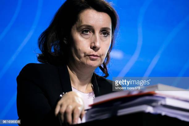 Isabelle Simon Secretary General of the Thales Group attends the Thales group general shareholders meeting on May 23 2018 in Paris France The...