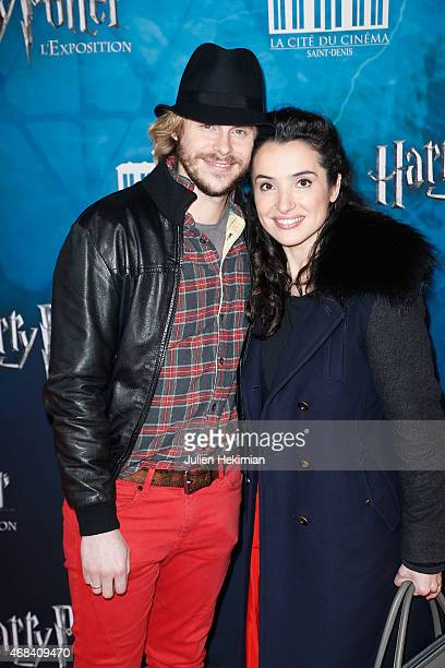 Isabelle Vitari and Jean Baptiste Shelmerdine attend 'Harry Potter The Exhibition' at La Cite Du Cinema on April 2 2015 in SaintDenis France