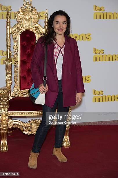 """Isabelle Vitari attends the """"Les Minions"""" Paris premiere at Le Grand Rex on June 23, 2015 in Paris, France."""