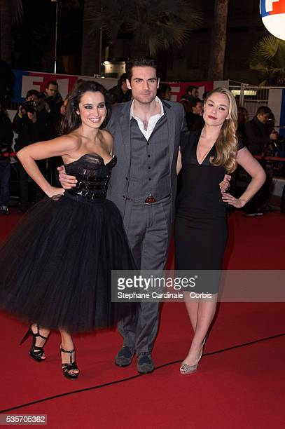 Isabelle Vitari Gil Alma and Joy Esther attend the NRJ Music Awards 2013 at Palais des Festivals in Cannes