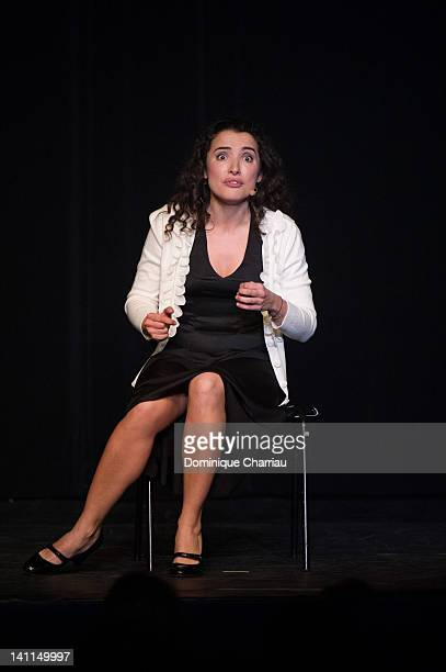 Isabelle Vitari performs onstage during the 28th International Festival MontBlanc Humour on March 11 2012 in SaintGervaislesBains France