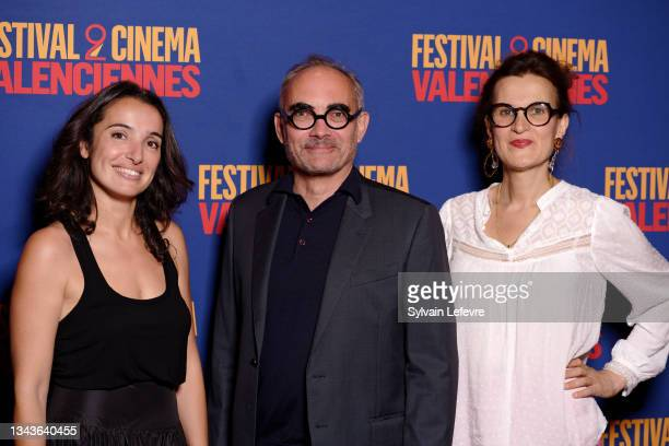 Isabelle Vitari, Thomas Chabrol and Armelle attend the closing ceremony photocall the Valenciennes Film Festival - Day Five on September 28, 2021 in...