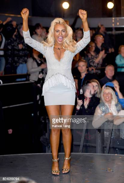 Isabelle Warburton is crowned the winner of Big Brother during the 2017 Big Brother Final at Elstree Studios on July 28 2017 in Borehamwood England