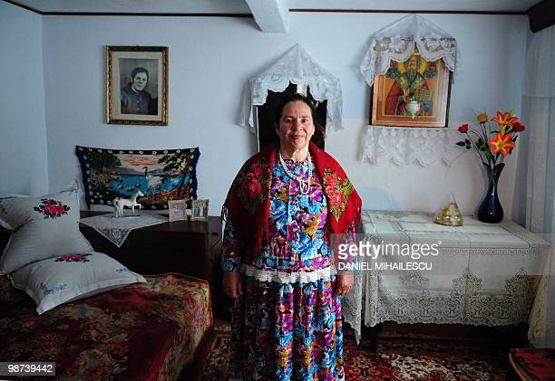 Isabelle WESSELINGH Iuliana Mitri a 69 yearold babushka poses in a room of her house in Sarichioi village 250kms east of Bucharest on April 3 2010...