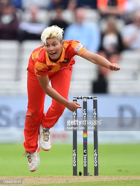 Isabelle Wong of the Birmingham Phoenix in action during The Hundred match between Birmingham Phoenix Women and Trent Rockets Women at Edgbaston on...