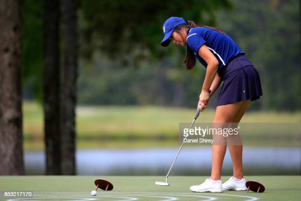 Isabelle Wu putts during the Drive Chip and Putt Championship at The Honors Course on September 24 2017 in Ooltewah Tennessee