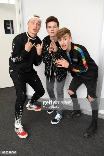 Isac Elliot Hayden Summerall and Johnny Orlando during the YOU Summer Festival 2018 on June 23 2018 in Berlin Germany
