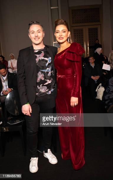 IsaDORA International Makeup Artist Martin Jansson and founder of Jordan Fashion Week Shirene Rifai attend Jordan Fashion Week 019 on March 30 2019...