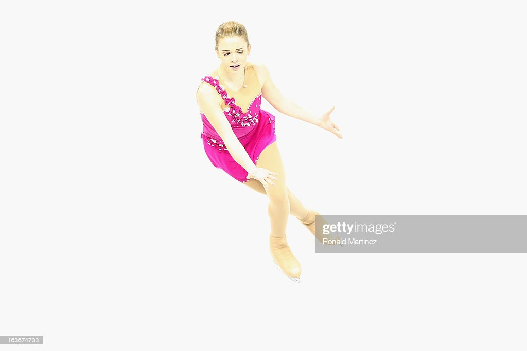 Isadora Williams of Brazil competes in the Ladies Short Program during the 2013 ISU World Figure Skating Championships at Budweiser Gardens on March 14, 2013 in London, Canada.
