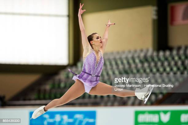 Isadora Williams of Brazil competes in the Ladies Short Program during the Nebelhorn Trophy 2017 at Eissportzentrum on September 29 2017 in...