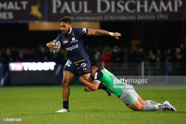 Isaia TOEAVA of Clermont during the European Rugby Champions Cup Pool 3 match between ASM Clermont Auvergne and Harlequin FC on November 16 2019 in...