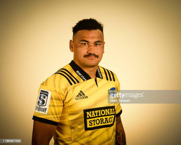 Isaia WalkerLeawere poses during a Hurricanes Super Rugby headshots session on February 01 2019 in Wellington New Zealand