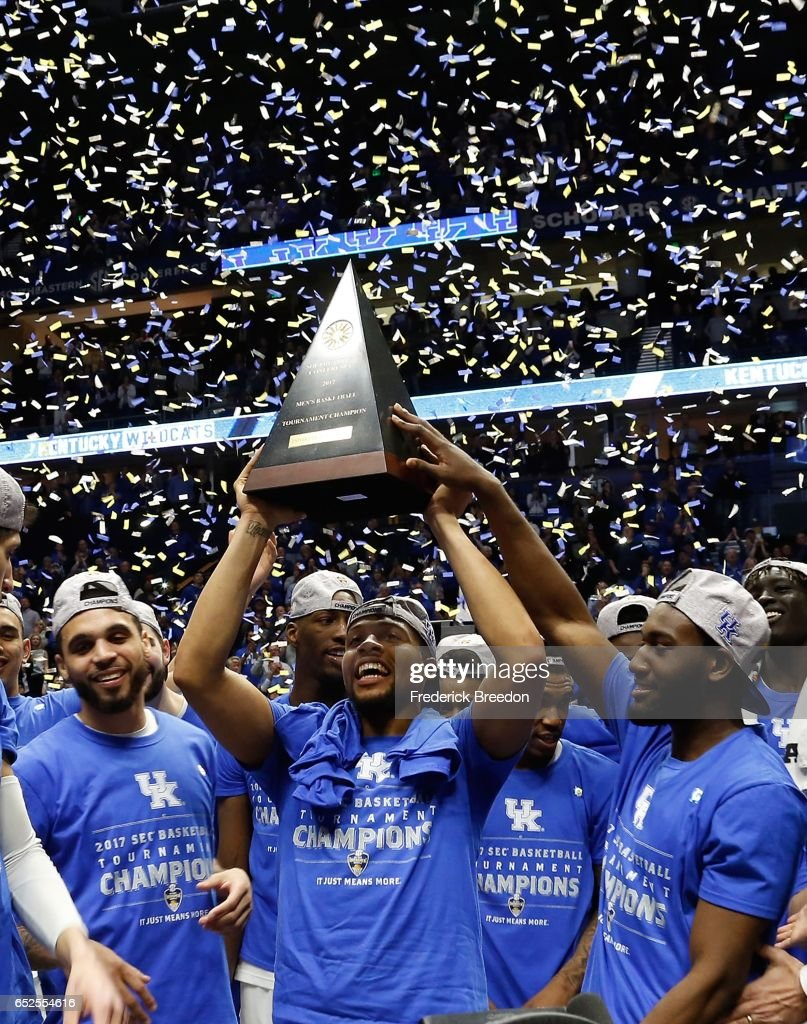 Kentucky v Arkansas - SEC Basketball Tournament - Championship : News Photo