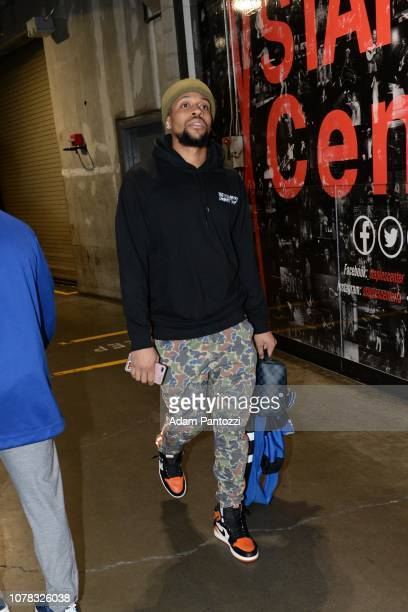 Isaiah Briscoe of the Orlando Magic arrives prior to a game against the LA Clippers on January 6 2019 at STAPLES Center in Los Angeles California...