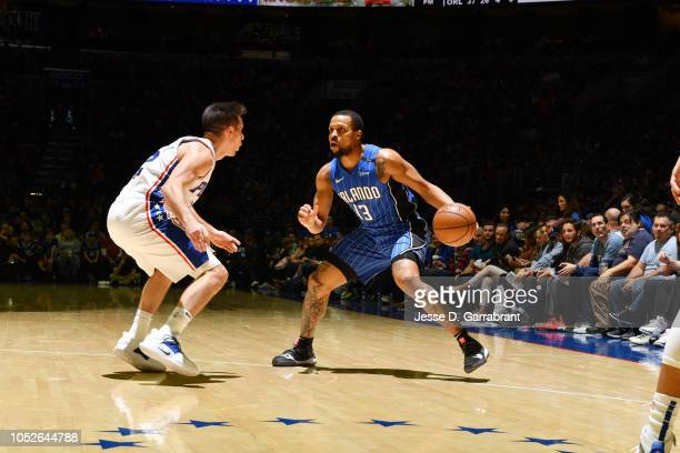 Isaiah Briscoe of the Orlando Magic handles the ball against the Philadelphia 76ers on October 20 2018 in Philadelphia Pennsylvania NOTE TO USER User...