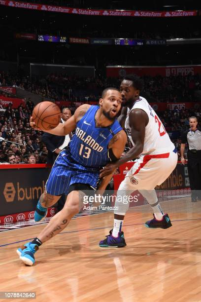 Isaiah Briscoe of the Orlando Magic handles the ball against the LA Clippers on January 6 2019 at STAPLES Center in Los Angeles California NOTE TO...