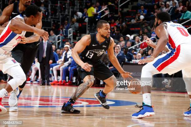 Isaiah Briscoe of the Orlando Magic handles the ball against the Detroit Pistons on January 16 2019 at Little Caesars Arena in Detroit Michigan NOTE...