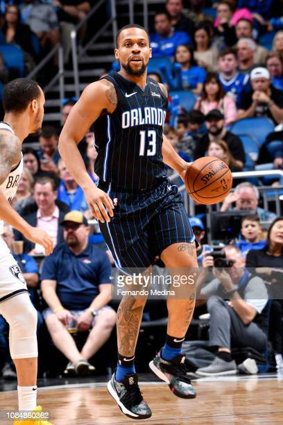 Isaiah Briscoe of the Orlando Magic handles the ball against the Brooklyn Nets on January 18 2019 at Amway Center in Orlando Florida NOTE TO USER...