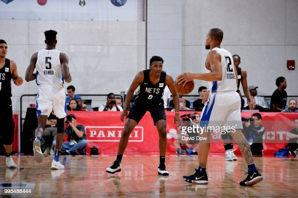 Isaiah Briscoe of the Orlando Magic handles the ball against the Brooklyn Nets during the 2018 Las Vegas Summer League on July 6 2018 at the Cox...
