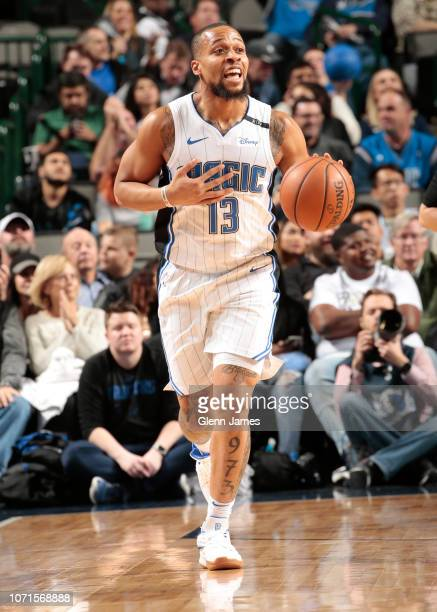 Isaiah Briscoe of the Orlando Magic handles the ball during the game against the Dallas Mavericks on December 10 2018 at the American Airlines Center...