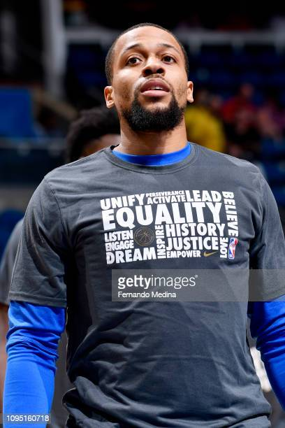 Isaiah Briscoe of the Orlando Magic looks on prior to the game against the Minnesota Timberwolves on February 7 2019 at Amway Center in Orlando...