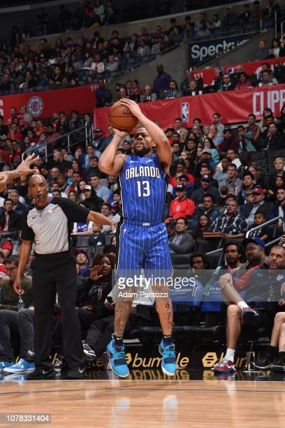Isaiah Briscoe of the Orlando Magic shoots the ball against the LA Clippers on January 6 2019 at STAPLES Center in Los Angeles California NOTE TO...