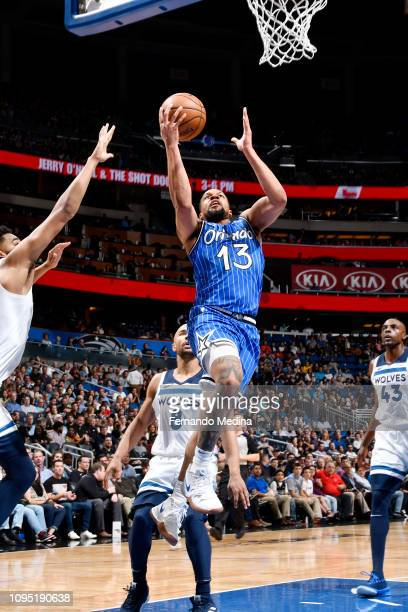 Isaiah Briscoe of the Orlando Magic shoots the ball against the Minnesota Timberwolves on February 7 2019 at Amway Center in Orlando Florida NOTE TO...