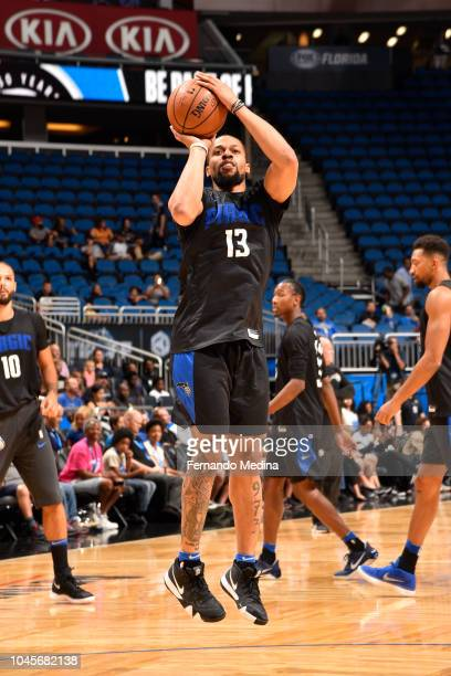 Isaiah Briscoe of the Orlando Magic shoots the ball during an open practice on October 2 2018 at Amway Center in Orlando Florida NOTE TO USER User...