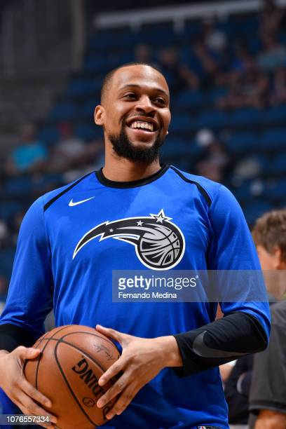 Isaiah Briscoe of the Orlando Magic warms up before the game against the Detroit Pistons on December 30 2018 at Amway Center in Orlando Florida NOTE...