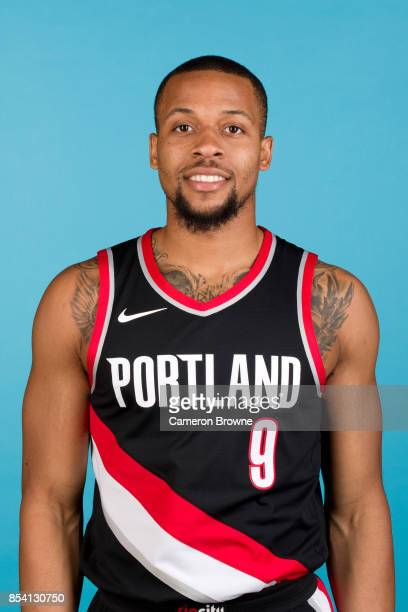 Isaiah Briscoe of the Portland Trail Blazers poses for a head shot during media day on September 25 2017 at the Moda Center Arena in Portland Oregon...