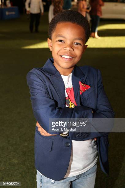 Isaiah C Morgan attends the 12th Annual Santee High School Fashion Show at Los Angeles Trade Technical College on April 13 2018 in Los Angeles...