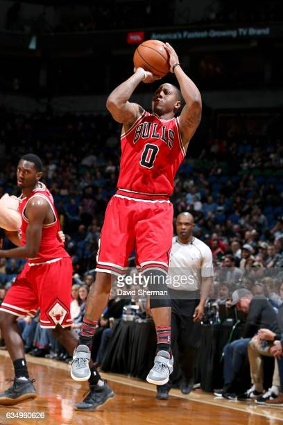 Isaiah Canaan of the Chicago Bulls shoots the ball during the game against the Minnesota Timberwolves on February 12 2017 at Target Center in...