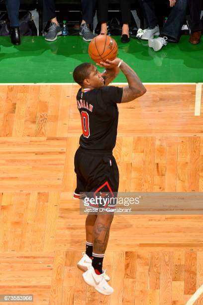 Isaiah Canaan of the Chicago Bulls shoots the ball during the game against the Boston Celtics in Game Five of the Eastern Conference Quarterfinals of...