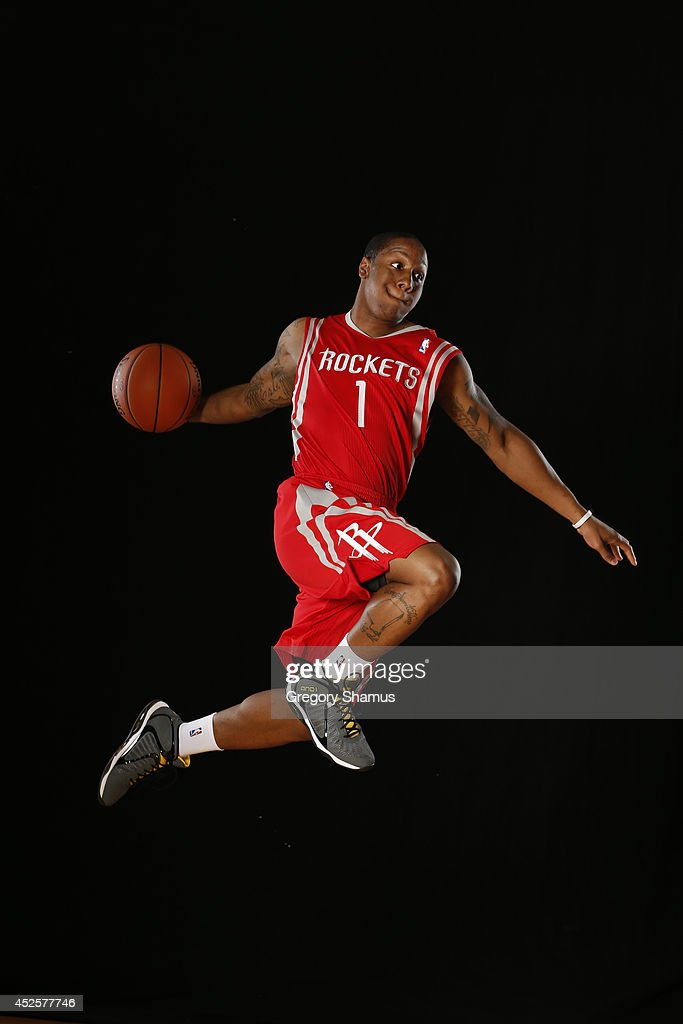 Isaiah Canaan #1 of the Houston Rockets poses for a portrait during the 2013 NBA rookie photo shoot on August 6, 2013 at the Madison Square Garden Training Facility in Tarrytown, New York.