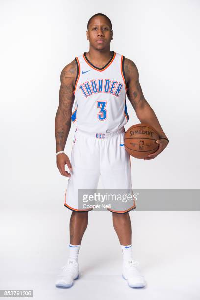 Isaiah Canaan of the Oklahoma City Thunder poses for a photo during media day at Chesapeake Energy Arena on September 25 2017 in Oklahoma City...