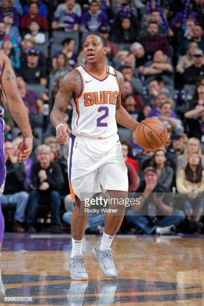 Isaiah Canaan of the Phoenix Suns handles the ball against the Sacramento Kings on December 29 2017 at Golden 1 Center in Sacramento California NOTE...