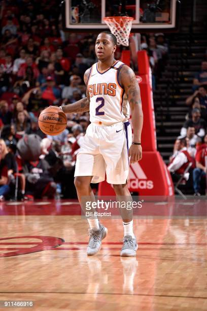 Isaiah Canaan of the Phoenix Suns handles the ball against the Houston Rockets on January 28 2018 at the Toyota Center in Houston Texas NOTE TO USER...