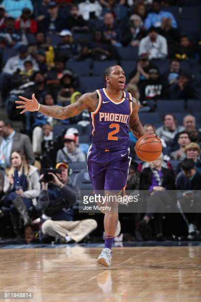 Isaiah Canaan of the Phoenix Suns handles the ball against the Memphis Grizzlies on January 29 2018 at FedExForum in Memphis Tennessee NOTE TO USER...