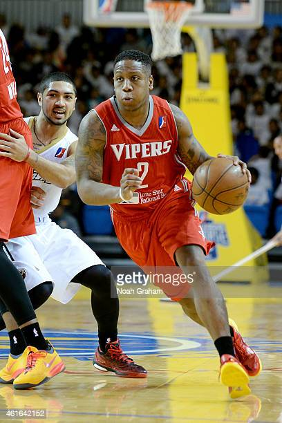 Isaiah Canaan of the Rio Grand Vally Vipers drives to the hoop against the Erie Bayhawks during the 2015 NBA DLeague Showcase presented by Samsung at...