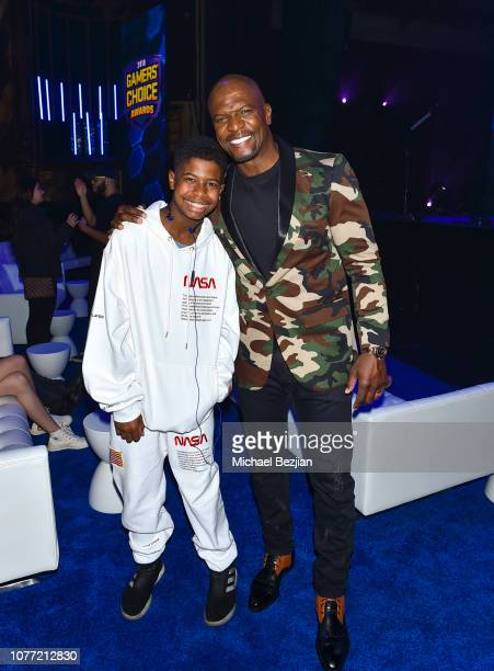Isaiah Crews and Terry Crews at Gamers' Choice Awards 2018 at Fonda Theater on December 3 2018 in Los Angeles California