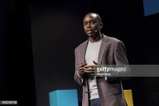 Isaiah Greene product manager for search learning and intelligence at Slack Technologies Inc speaks during an event in San Francisco California US on...