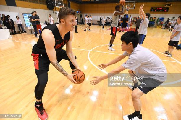 Isaiah Hartenstein of the Houston Rockets participates during the NBA Cares Special Olympics Unified Clinic part of the 2019 NBA Japan Games at a...