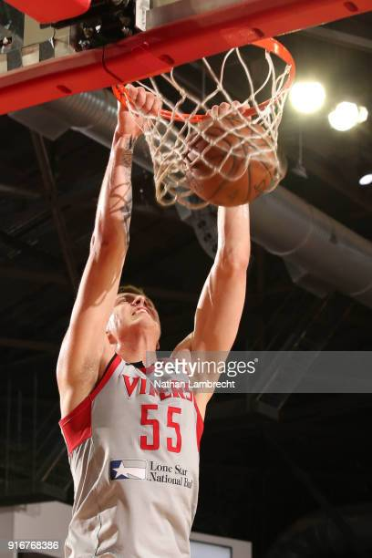 db8660b4572 Isaiah Hartenstein of the Rio Grande Valley Vipers dunks the ball against  the Austin Spurs during
