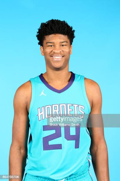 Isaiah Hicks of the Charlotte Hornets poses for a head shot during media day at Spectrum Center in Charlotte North Carolina NOTE TO USER User...