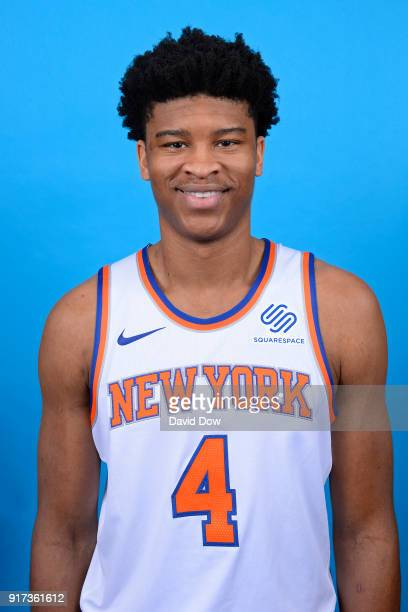 Isaiah Hicks of the New York Knicks poses for a head shot at the Madison Square Garden Training Center on February 10 2018 in Tarrytown New York NOTE...
