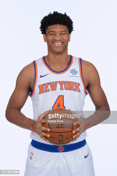 Isaiah Hicks of the New York Knicks poses for a portrait at the Madison Square Garden Training Center on February 10 2018 in Tarrytown New York NOTE...